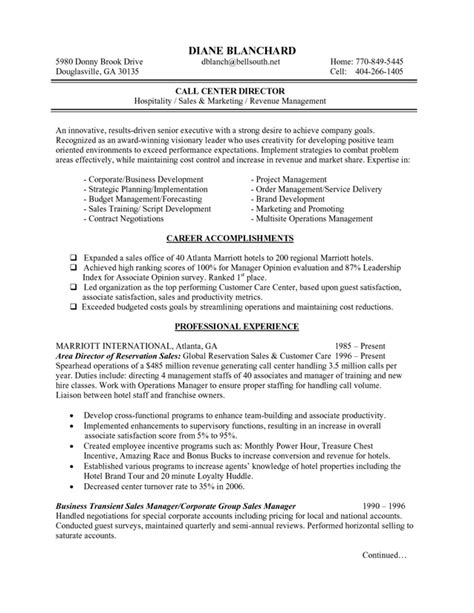 sle resume for manager position hotel and restaurant management resume sales
