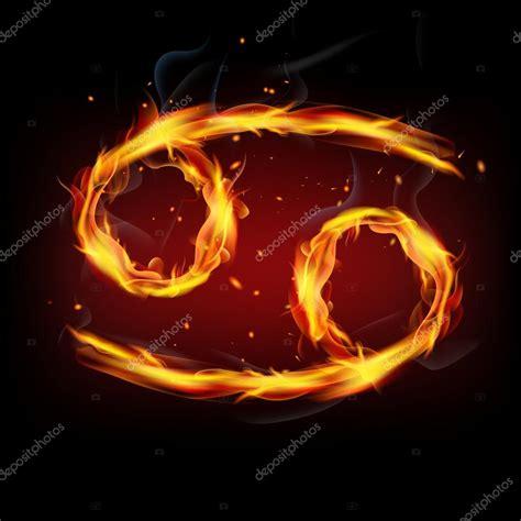 imagenes del signo jordan signo del zodiaco para el c 225 ncer en las llamas de fuego
