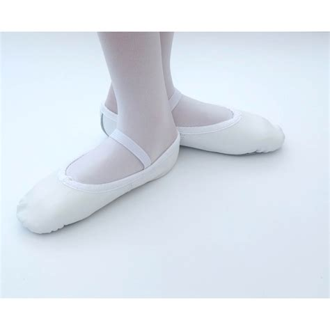 white ballet shoes tappers and pointers elasticated white leather ballet