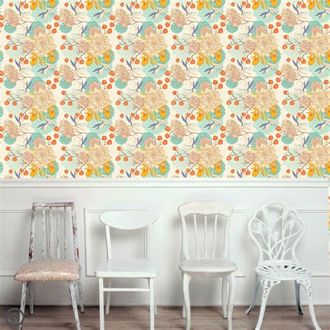 removable wallpaper removable floral wallpaper bloom peel stick self adhesive