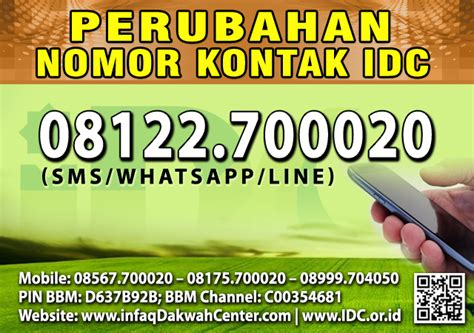 Perubahan Nomor Wa Telpon Vapor pengumuman perubahan nomor kontak idc yang baru 08122 700020