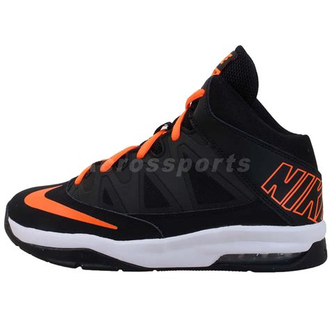 basketball shoes boys nike air max stutter step gs black orange boys youth