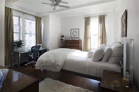 manhattan pre war apartment eclectic bedroom new york by hirshson design