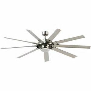 72 in ceiling fan fanimation 72 in slinger v2 brushed nickel indoor outdoor