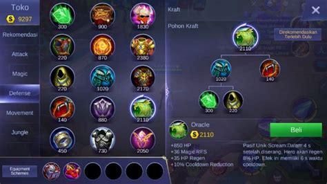 mobile legends items build akai mobile legends cara menggunakannya