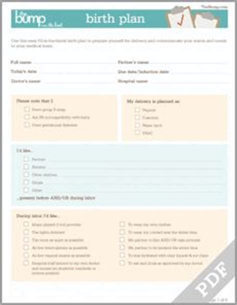1000 ideas about birth plan printable on