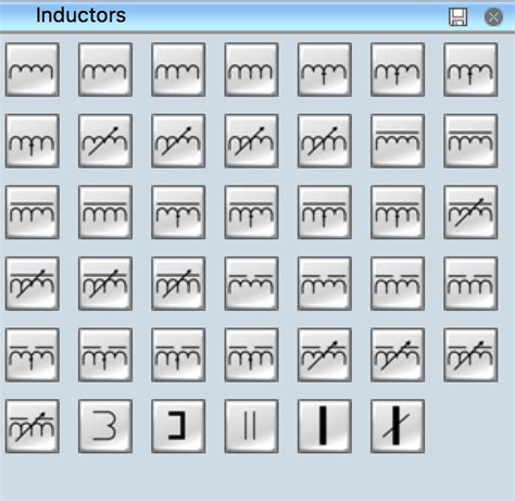 electrical symbols inductors