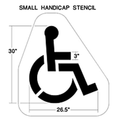 handicap template neon sign neon nfl sign stencils traffic signs