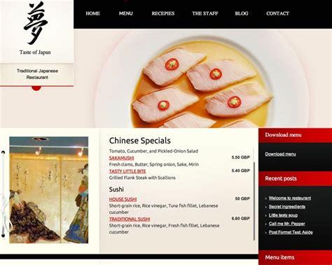 wordpress theme free japan taste of japan wordpress theme f 252 r japanische restaurants