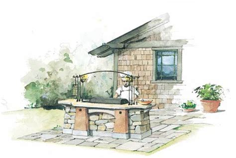 outdoor hearth fire pit barbecue design
