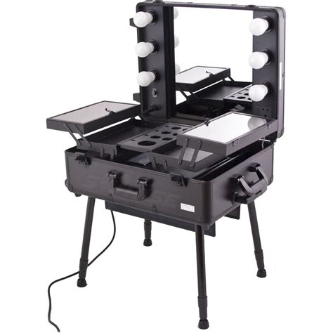makeup luggage with lights sunrise c6010 makeup rolling case artist cosmetic train