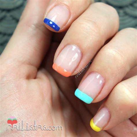 imagenes de uñas acrilicas francesas manicura francesa de colores manicura de verano