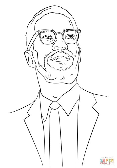 malcolm x coloring pages az coloring pages