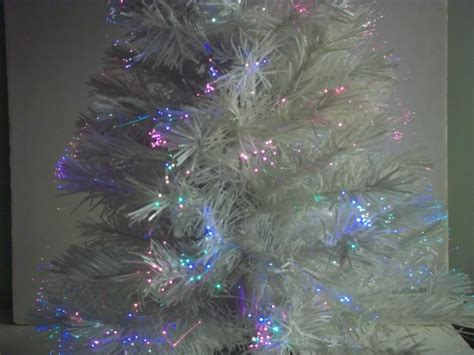 32 quot white color changing fiber optic artificial christmas