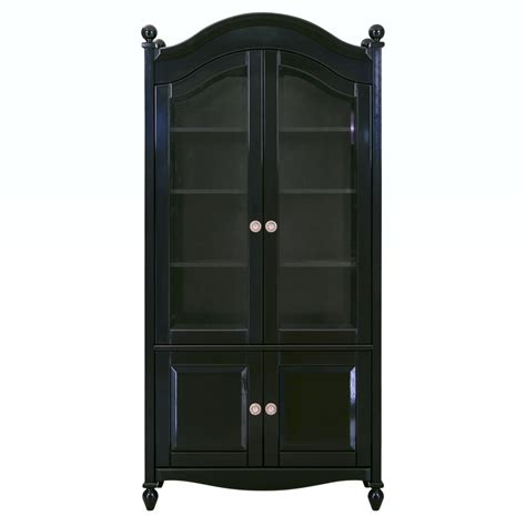 black bookcase with glass doors black edition bookcase with glass doors woodright home