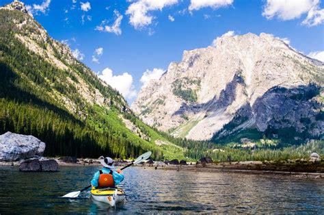 boat tour jackson lake jackson hole kayaking in grand teton national park oars