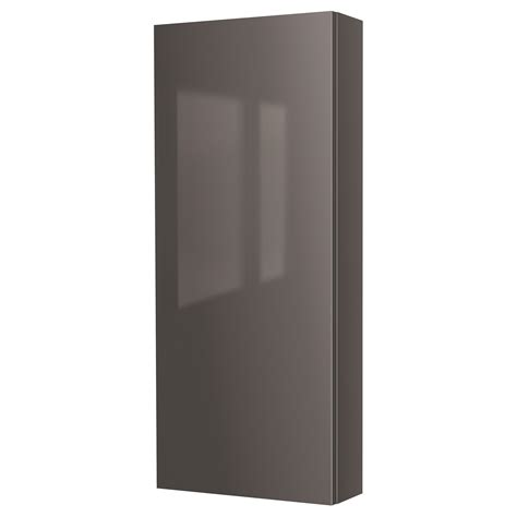 high gloss grey bathroom cabinets godmorgon wall cabinet with 1 door high gloss grey