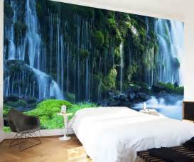 Hanging Wall Murals Waterfall Landscape Mural Wallpaper Natural Scenery Full