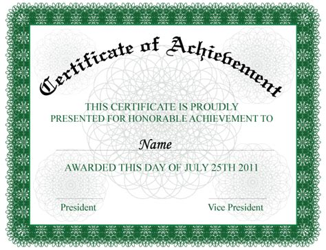Certificate of Achievement by 123freevectors on DeviantArt
