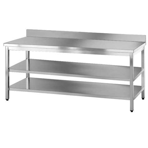 ripiani per tavoli tavolo acciaio inox due ripiani e alzatina