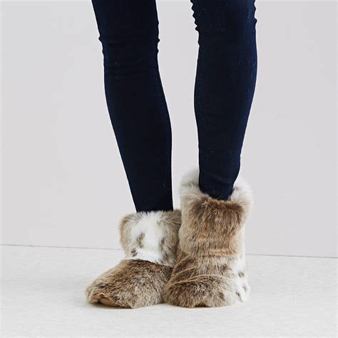 fur slipper boots luxury faux fur slipper boots by helen