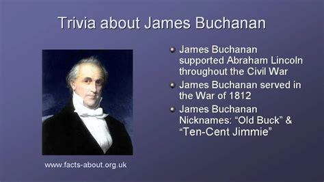 what is biography information president james buchanan biography youtube