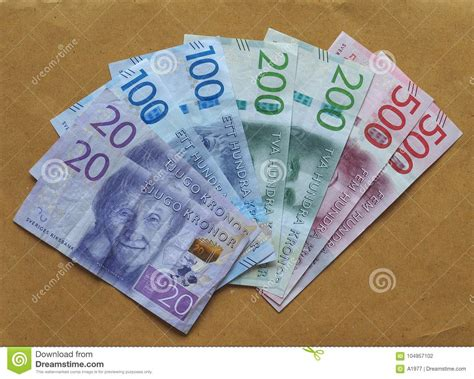 currency sek swedish krona notes sweden stock photo image of notes