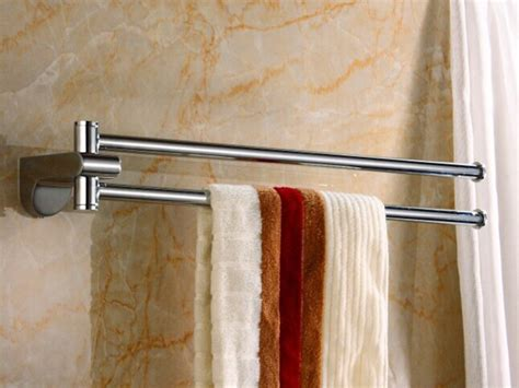 Wall Towel Holders Bathrooms by 486g Chrome Polished Finish 18 Inch Rotate Brass Bathroom