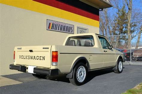 volkswagen rabbit truck 1982 restored 1982 volkswagen rabbit caddy bring a trailer
