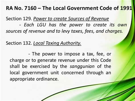 taxing powers scope and limitations of nga and lgu