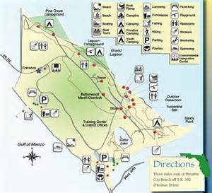 state park map st state park map panama city florida mappery