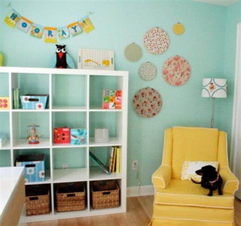 Simple And Ample Storage Furniture Of Turquoise Baby Simple Nursery Decorating Ideas