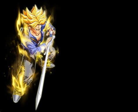 dragon ball z black wallpaper dbz trunks wallpaper wallpapersafari