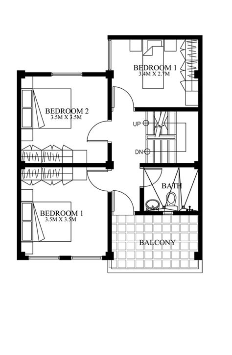 second floor house plans 187 mhd 2012007 second floor planpinoy eplans modern house