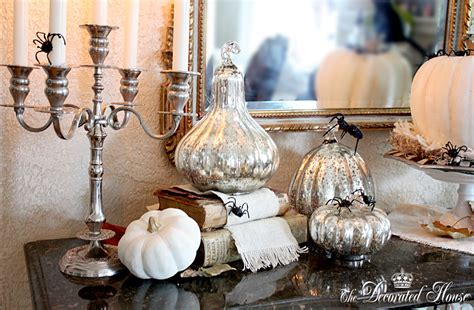 Glass Pumpkin Decorations by The Decorated House Decorating In Black