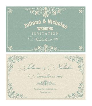 Wedding Card Design Cdr Format by Free Invitation Card Design Free Vector 12 708