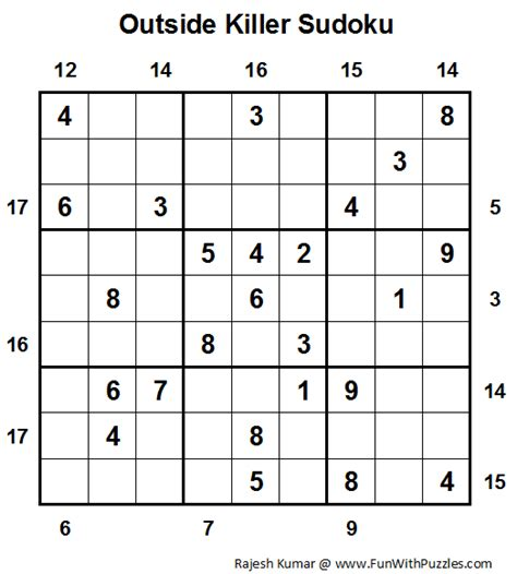 printable outside sudoku free killer sudoku downloadable