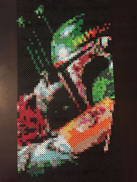pin by heather mcbride on projects to try pinterest boba fett star wars perler beads by heather bergstedt