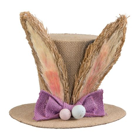 Bunny Ear Hat by 7 Quot Burlap Bunny Ear Top Hat Grass 9729875