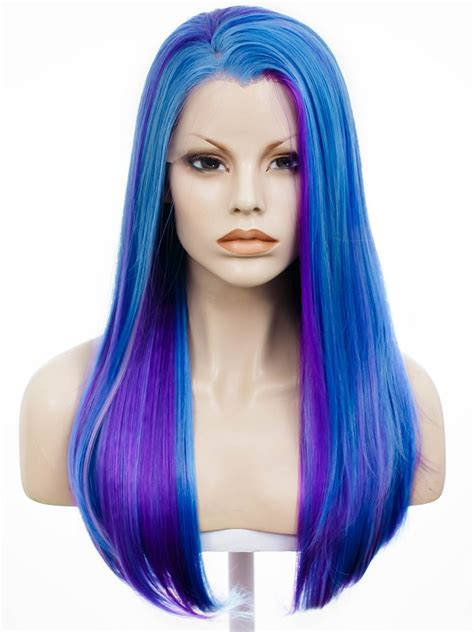 Wig Blue purple blue wig blue mix wig mix hair synthetic lace front wigs on aliexpress