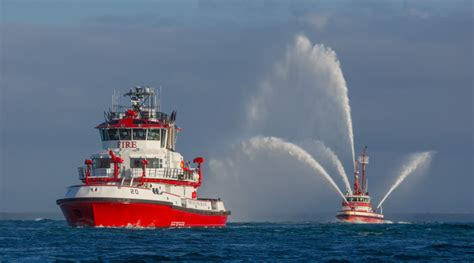 long beach fireboat vigilance world s most advanced fireboat dedicated at port of long