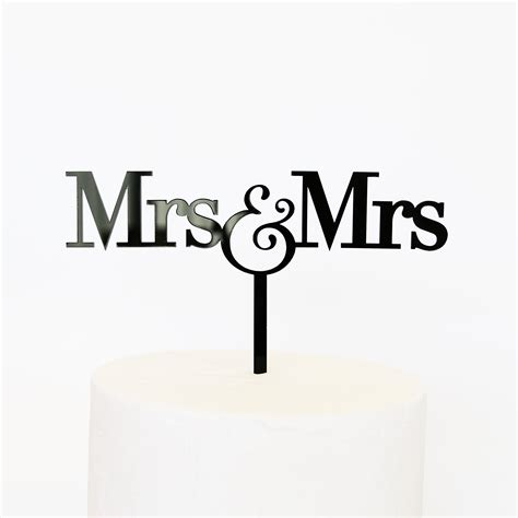 Mrs and Mrs Cake Topper   SANDRA DILLON DESIGN