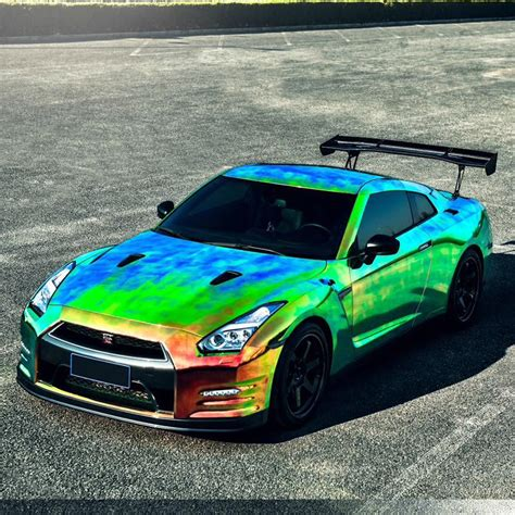 rainbow cars car collection nissan quot godzilla quot gtr r35 colored