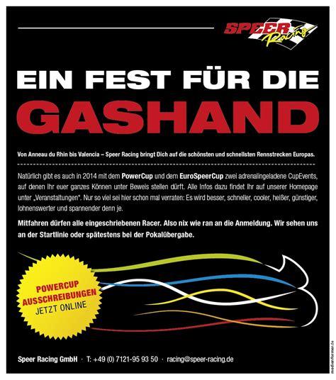 Motorrad Speer by Speer Racing Powercup Eurospeercup Ein F 252 R Die