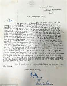 Nyu Decision Letter Sent Remarkable Story Of Spitfire Ace Who Was Given A German