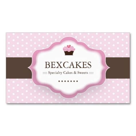 Cupcake Business Cards Templates by Cupcake Business Card Bakery Business Card