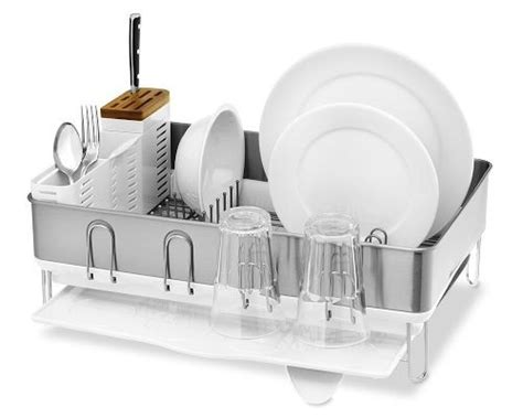 Simple Human Drying Rack by Simplehuman Steel Frame Dishrack Test And Reviews
