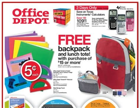 office depot coupons weekly ad weekly ad deals for office depot back to school week of