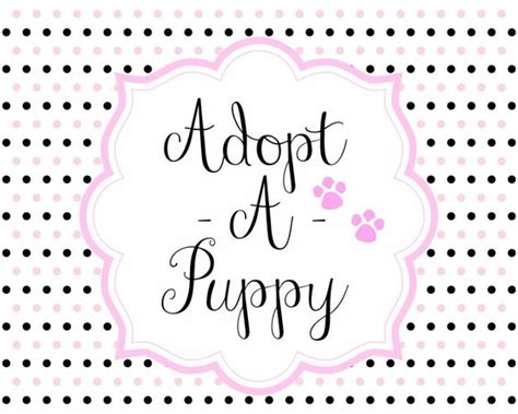 adopt a free puppy free adopt a puppy printable set free puppyparty puppy