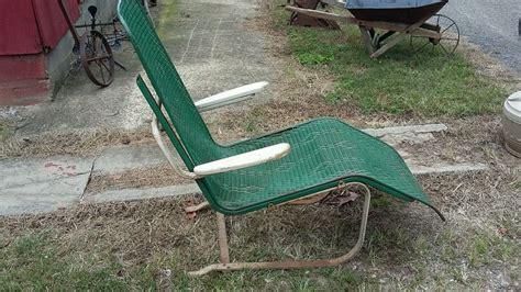 Patio Chairs That Bounce Vintage Lloyd Loom Mesh Wicker Chair Mid Century Patio